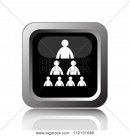 Organizational Chart With People Icon