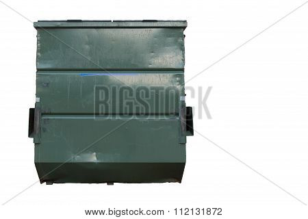 Big Green Dumster  White Background