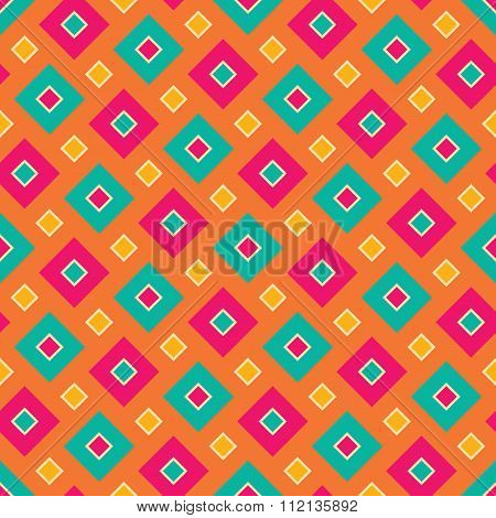 Vector modern seamless colorful geometry square pattern color abstract