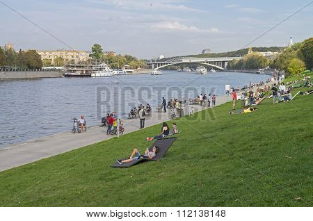 Embankment Of The Moscow Rive