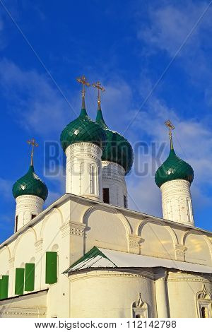 Yaroslavl, Domes Of Church Of The Ascension.