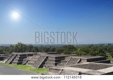 Teotihuacan Ruins Under Bright Sun