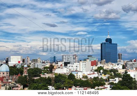 Aerial View To Mexico-city