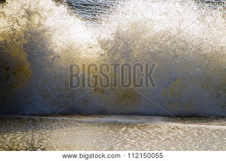 Wild Splashing Ocean Wave Background