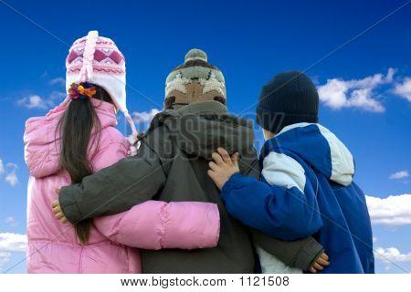 Siblings Hug