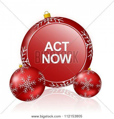 act now christmas icon