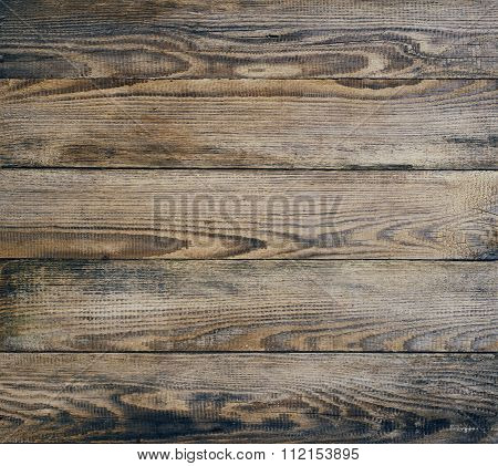 Texture Of Old Pine Oiled Planks.