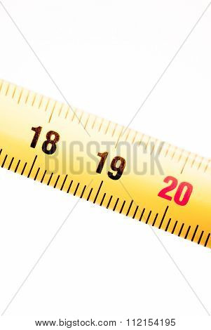 Measuring Tape Ruler Numbers 18 19 20
