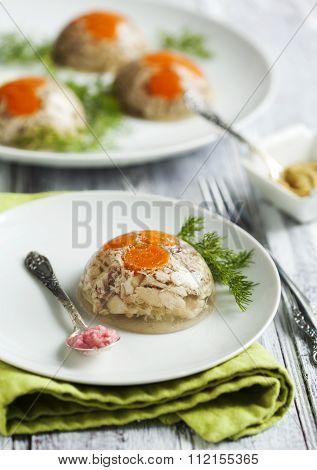 Chicken Galantine Aspic
