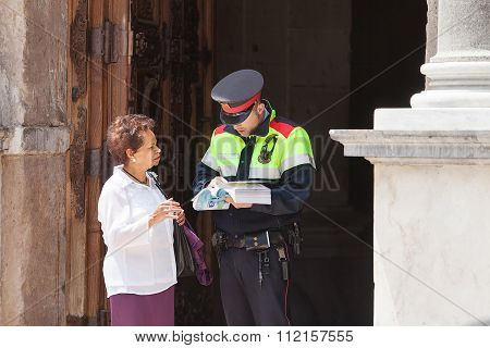 Tourist With Policeman