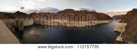 Super Panoramic Hoover Dam Lake Mead Colorado River Hydro-electric