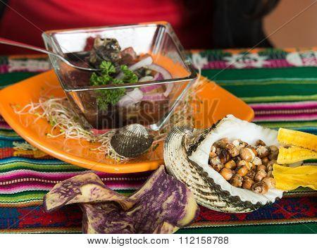 Delicious ecuadorian seafood, cebiche