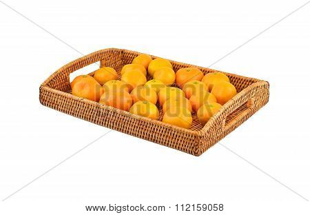 Mandarin On Wickered Tray
