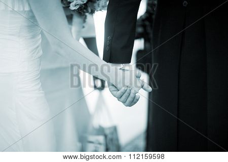 Wedding Bride And Groom In Marriage