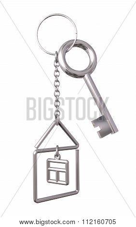 House keys with keychain
