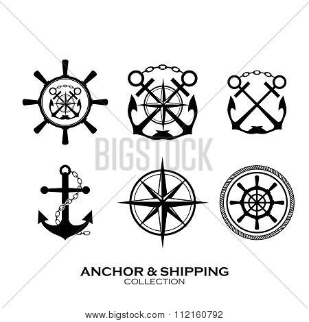 Vector Shipping Symbol Collection