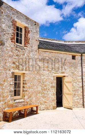 The Round House: Colonial Limestone Building