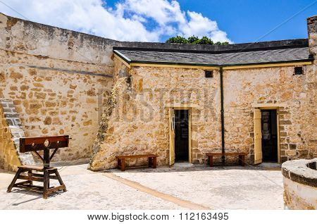 Stocks and Limestone Courtyard: The Round House