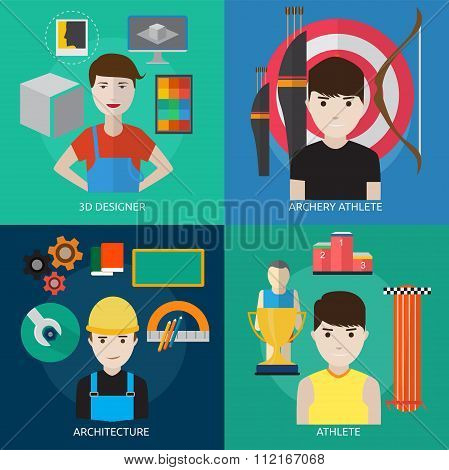Human Profession Vector Concept