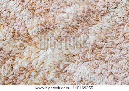 Closeup Old Brown Mat Texture Background