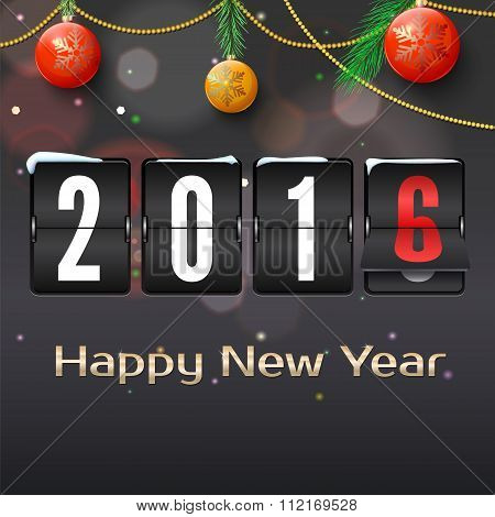 Happy new year 2016 card