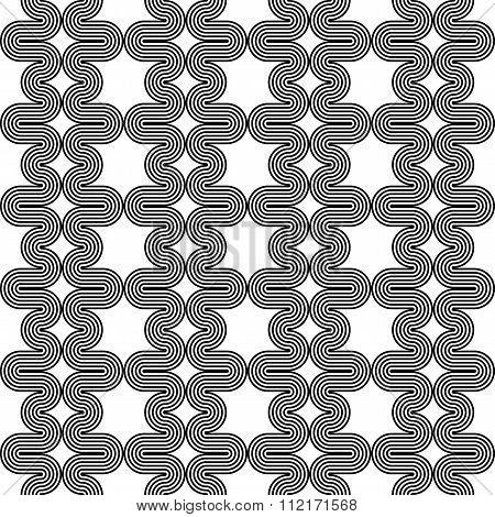 Design Seamless Monochrome Waving Zigzag Pattern