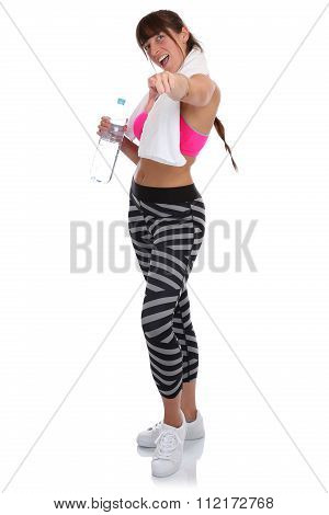 Fitness Woman At Sports Workout Training Participating Taking Part Full Body
