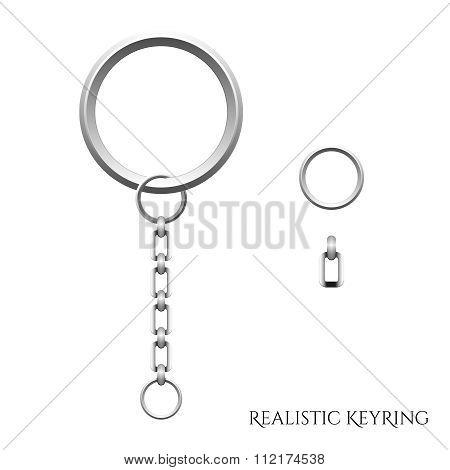 Vector Realistic 3D Key ring illustration
