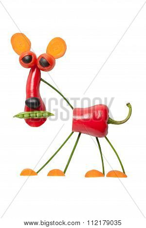 Funny Red Panther Made Of Vegetables
