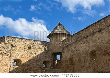 Castle In Stara Lubovna. Slovakia. Fragment Of Ancient Defensive Fortification .