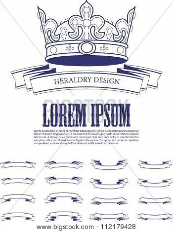 Vector heraldic elements design.
