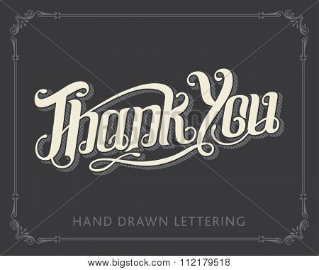 Thank You hand drawn lettering vector calligraphy