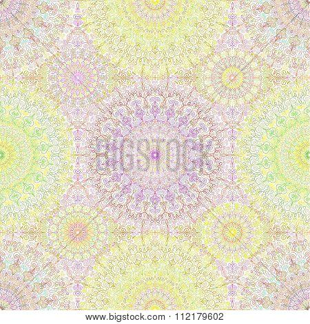 Colorful Hippie Mandala Pattern