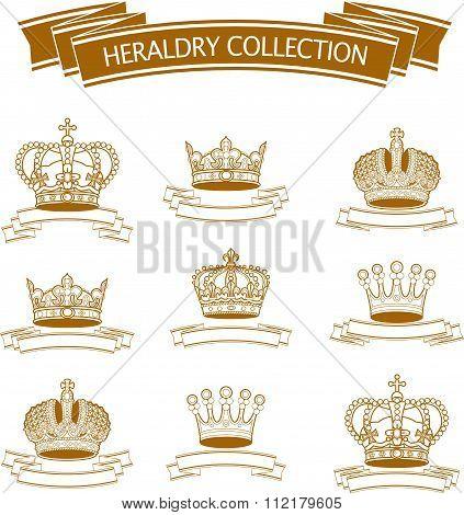 Vector heraldic elements design.