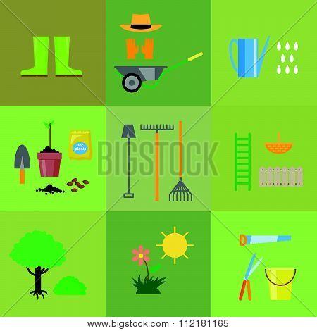 Vector flat illustration of gardening