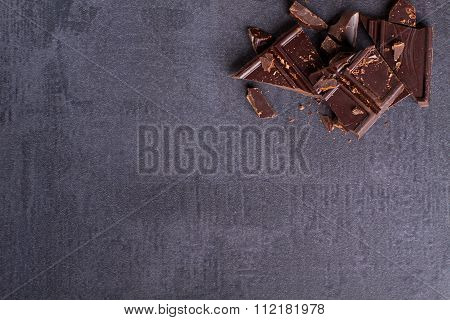 Dark bitter chocolate
