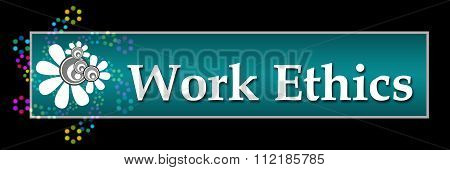 Work Ethics Dark Colorful Neon Horizontal