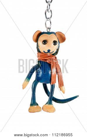 Isolated Keychain Monkey