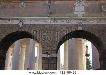 Porta Angelica Gate To Vatican City