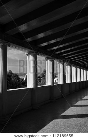 Light And Shadow Marble Columns