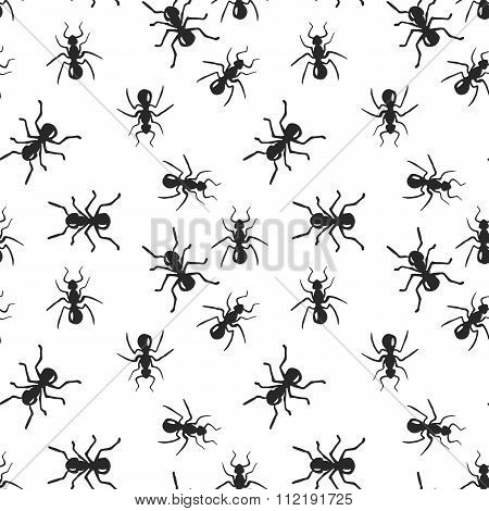 Vector seamless ant colony insect pattern.