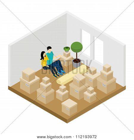 Moving In Illustration