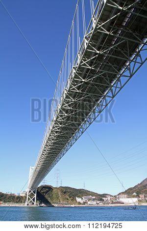 Kammon strait bridge between Shimonoseki and Moji in Japan