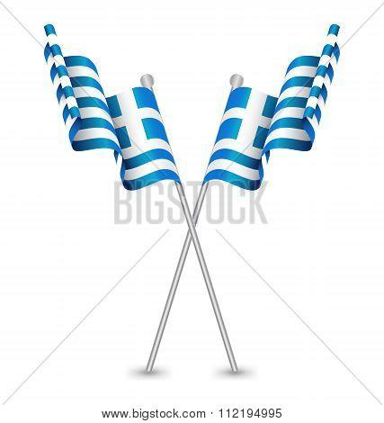 Greece (hellenic Republic) Waving Flag
