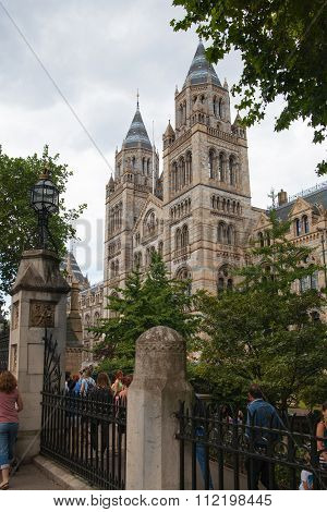 LONDON, UK - AUGUST 11, 2014: National History Museum, is one of the most favourite museum for famil