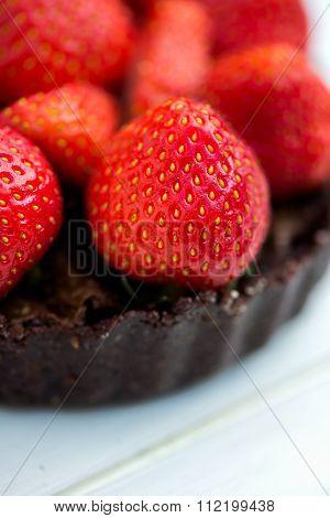Homemade Raw Vegan Strawberry Tart