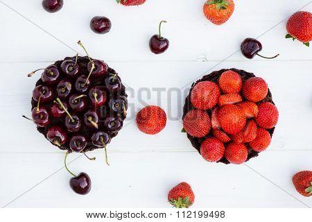 Homemade Raw Vegan Cherry  Tart