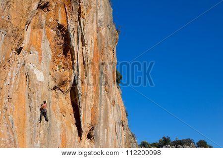 Rock climber .