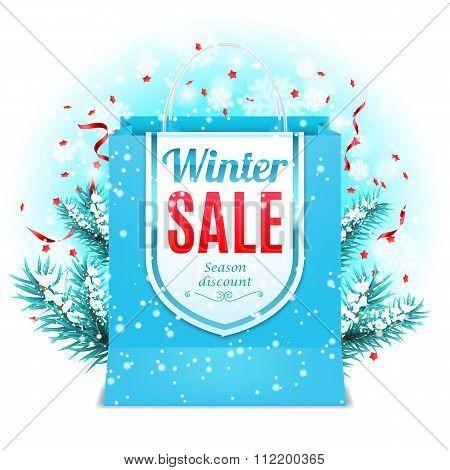 Winter Sale Shopping Bag