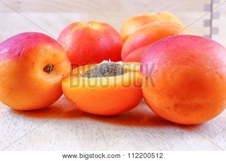 Fresh Ripe Juicy Apricot